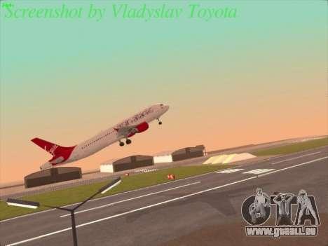 Airbus A320-211 Virgin Atlantic für GTA San Andreas rechten Ansicht