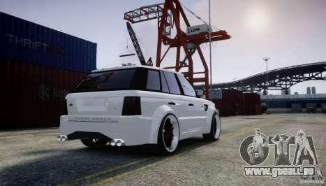 Range Rover Sport RR SCHEARZ pour GTA 4 Vue arrière de la gauche