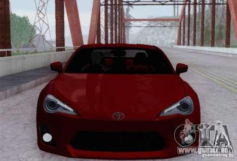 Toyota GT86 pour GTA San Andreas vue de dessus