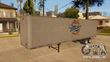 Ganzmetall-trailer für GTA San Andreas Unteransicht