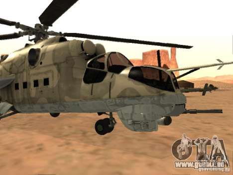 Mi-24p für GTA San Andreas linke Ansicht