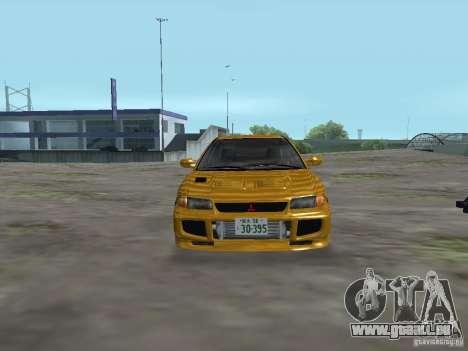 Mitsubishi Lancer Evolution III für GTA San Andreas Rückansicht
