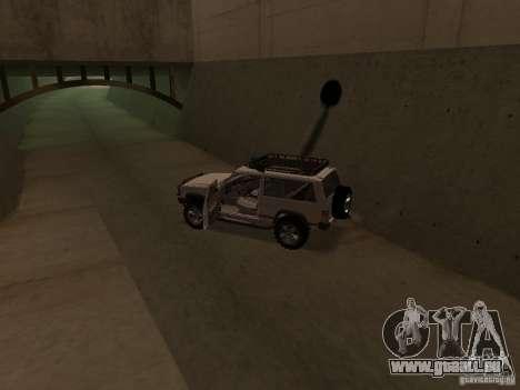 Jeep Cherokee Sport pour GTA San Andreas vue intérieure
