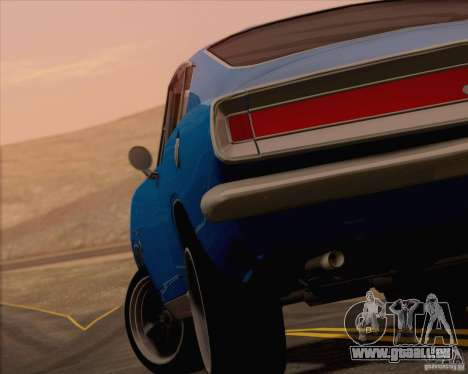 Plymouth Barracuda 1968 pour GTA San Andreas salon