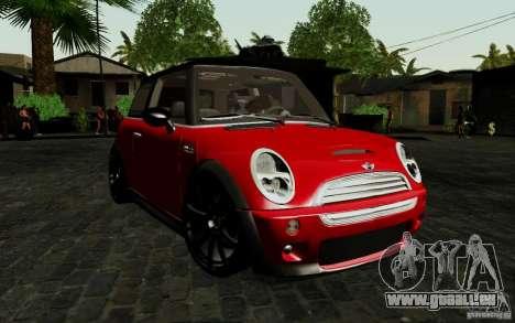 Mini Cooper S Tuned für GTA San Andreas linke Ansicht