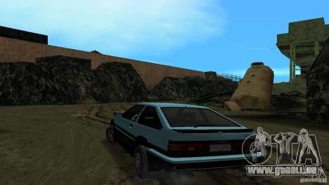 Toyota Trueno Sprinter pour une vue GTA Vice City de la gauche