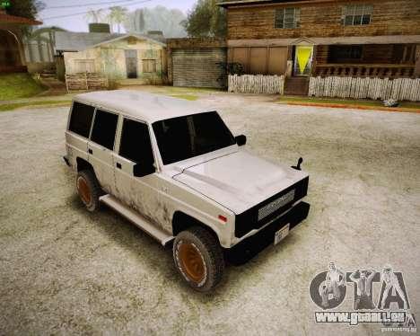 Daihatsu Taft Hiline Long pour GTA San Andreas laissé vue