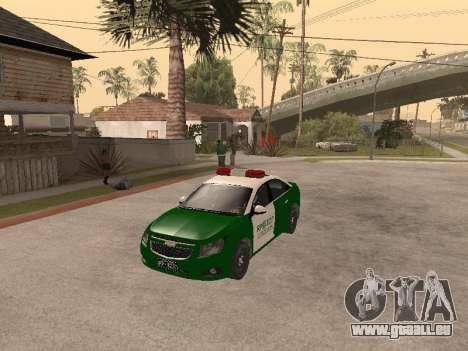 Chevrolet Cruze Carabineros Police für GTA San Andreas