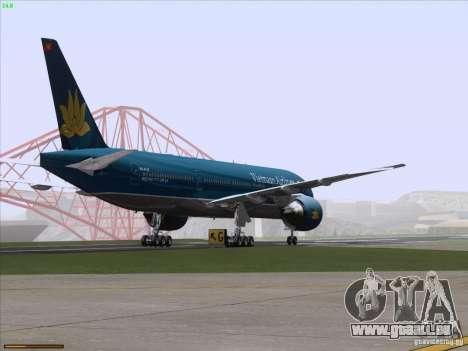 Boeing 777-2Q8ER Vietnam Airlines pour GTA San Andreas vue de dessous