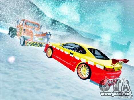 Nissan Silvia S15 Calibri-Ace pour GTA San Andreas vue de dessus