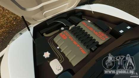 Chevrolet Corvette C6 2010 Convertible pour GTA 4 est une vue de l'intérieur