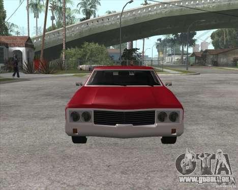 Sabre HD für GTA San Andreas zurück linke Ansicht
