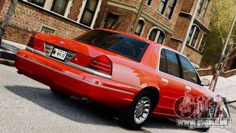 Ford Crown Victoria Civil 2006 pour GTA 4 est une gauche