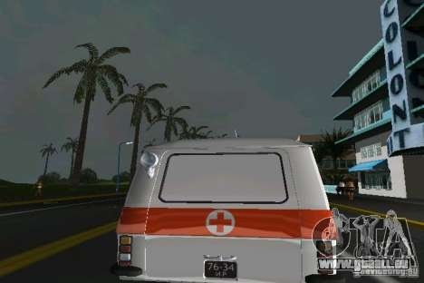 RAF-22031 Ambulance pour une vue GTA Vice City de la droite