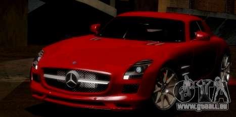 Mercedes-Benz SLS AMG 2010 pour GTA San Andreas vue de dessous