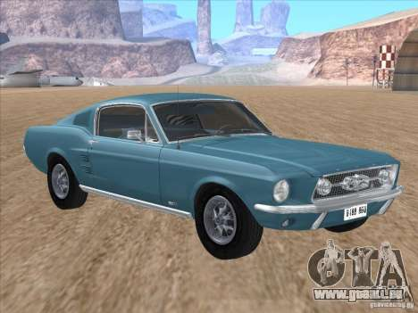 Ford Mustang Fastback 1967 pour GTA San Andreas