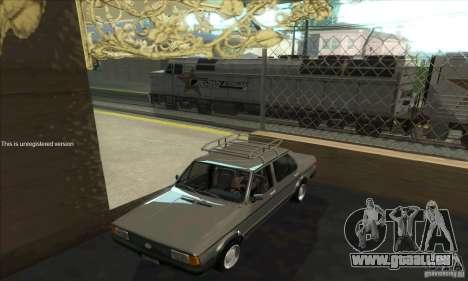 Volkswagen Jetta MK1 pour GTA San Andreas vue intérieure