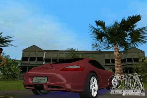 Porsche Cayman pour GTA Vice City sur la vue arrière gauche