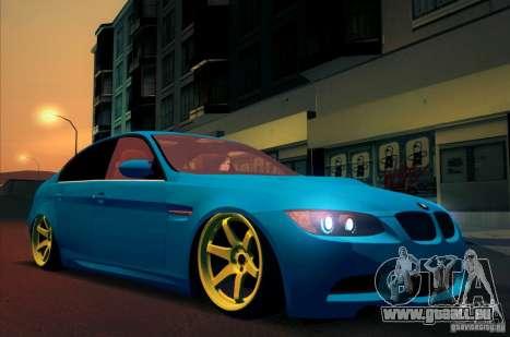 BMW M3 E90 pour GTA San Andreas vue arrière