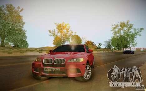 BMW X6 v1.1 für GTA San Andreas zurück linke Ansicht
