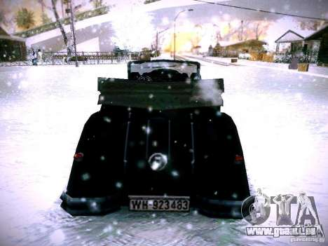 Voitures derrière le jeu de lignes ennemies 2 pour GTA San Andreas sur la vue arrière gauche
