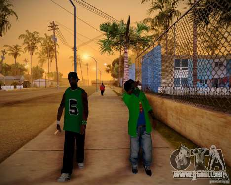 Skins pack gang Grove für GTA San Andreas dritten Screenshot