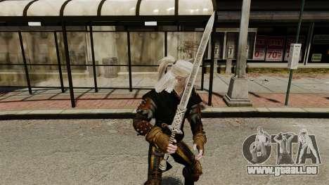 Épée de la v1 de The Witcher pour GTA 4 secondes d'écran