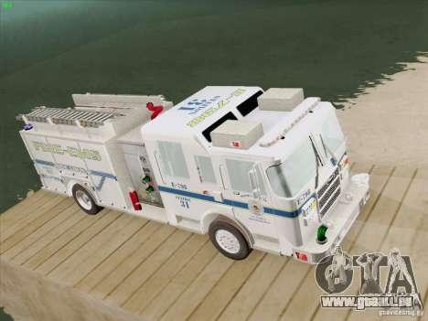 Pierce Pumpers. B.C.F.D. FIRE-EMS für GTA San Andreas Rückansicht