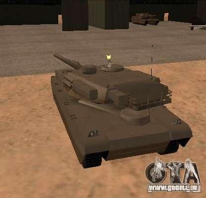 Die Minigun auf dem tank für GTA San Andreas zweiten Screenshot