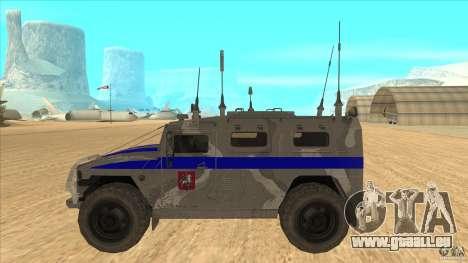 GAZ-23034 RID-1 Tiger pour GTA San Andreas laissé vue
