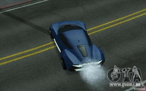 Marussia B2 2010 pour GTA San Andreas sur la vue arrière gauche