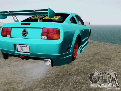 Ford Mustang GT Lowlife pour GTA San Andreas vue de dessus