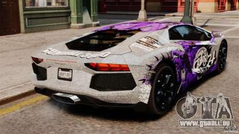 Lamborghini Aventador LP700-4 2012 Galag Gumball pour GTA 4 Vue arrière de la gauche