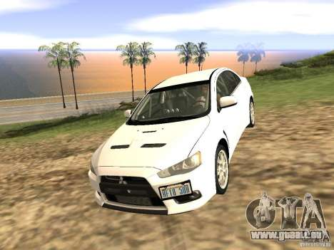 Mitsubishi Lancer Evo X pour GTA San Andreas