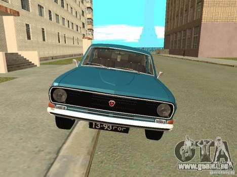 GAZ Volga 24-12 für GTA San Andreas zurück linke Ansicht