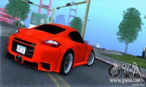 Porsche Cayman S v2 pour GTA San Andreas vue de droite