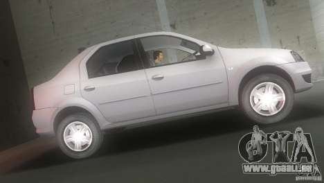 Dacia Logan pour une vue GTA Vice City de la gauche