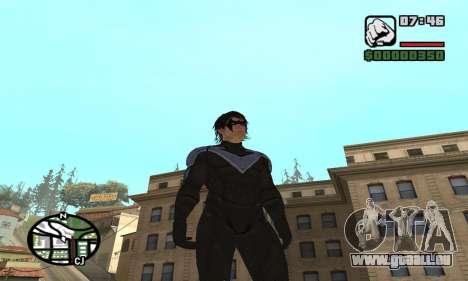 Nightwing skin für GTA San Andreas zweiten Screenshot