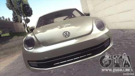 Volkswagen Beetle Turbo 2012 für GTA San Andreas Rückansicht