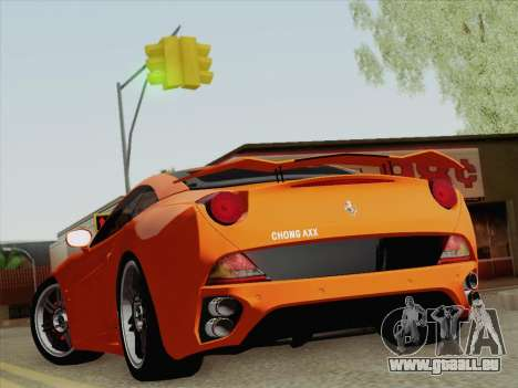 Ferrari California pour GTA San Andreas vue arrière