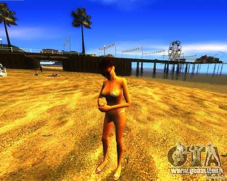 Salut de l'homme sur la plage pour GTA San Andreas troisième écran