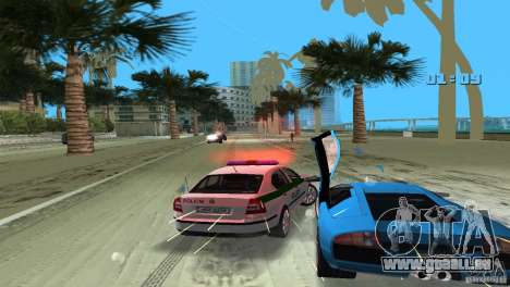 Skoda Octavia 2005 pour une vue GTA Vice City de l'intérieur