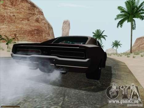 Dodge Charger 1969 pour GTA San Andreas laissé vue