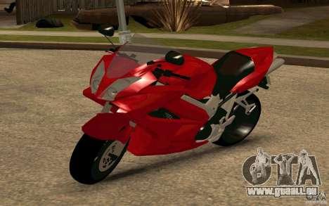 Honda VTR 2003 pour GTA San Andreas sur la vue arrière gauche