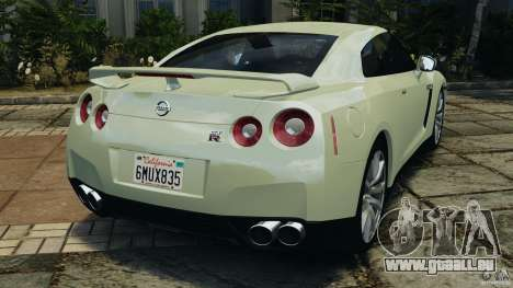 Nissan GT-R 2012 Black Edition pour GTA 4 Vue arrière de la gauche