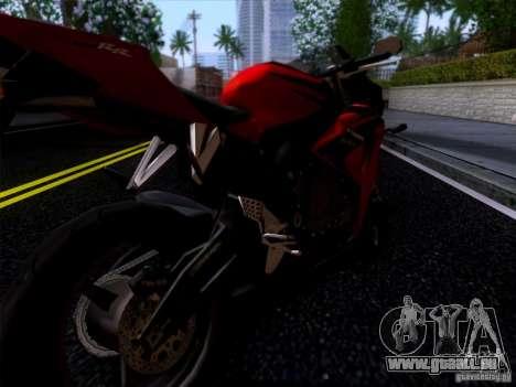 Honda CBR 600 RR für GTA San Andreas zurück linke Ansicht