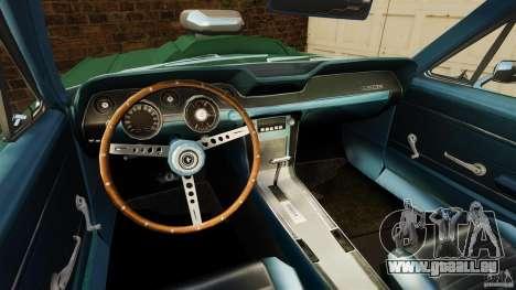 Ford Mustang 1967 pour GTA 4 Vue arrière