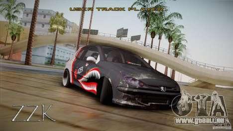 Peugeot 206 Shark Edition für GTA San Andreas zurück linke Ansicht