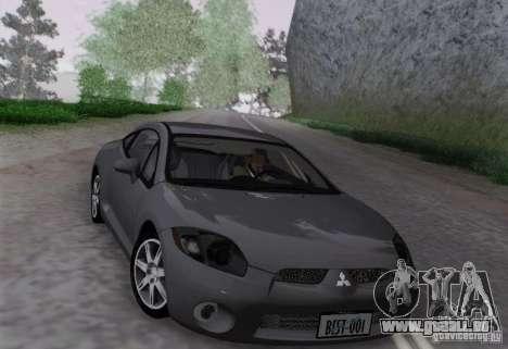 Mitsubishi Eclipse GT V6 pour GTA San Andreas sur la vue arrière gauche