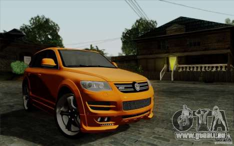 Volkswagen Touareg R50 Light pour GTA San Andreas vue intérieure